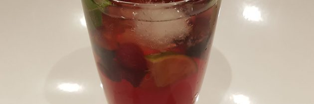 Berry mint punch