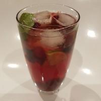 berry mint punch mocktail