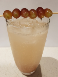 first attempt at red grape mocktail