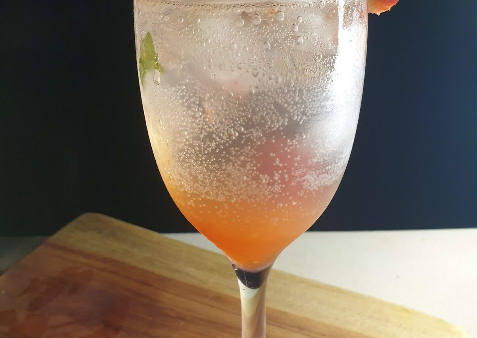 strawberry bail mocktail